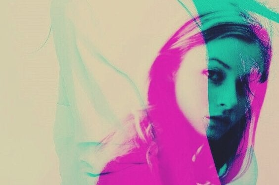 Kvinne i rosa