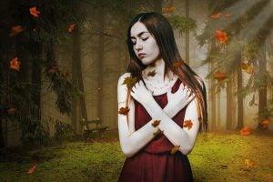 usikkerhet i en kvinne