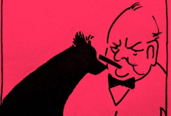 Winston Churchill og hans svarte hund av depresjon