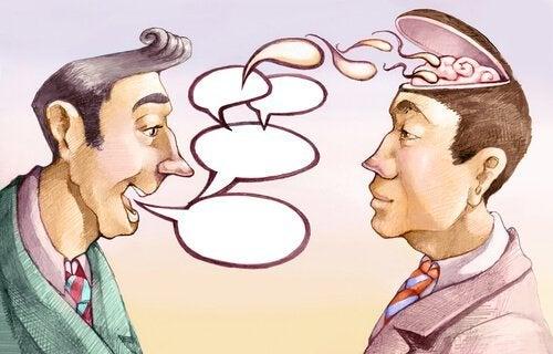 Person snakker for mye