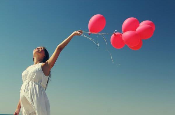 Kinne med røde ballonger har nådd terapibehandlingens avslutning