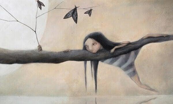 Franzesca Dafne: Jente klatrer i et tre