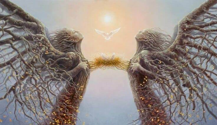 Sammenbundne trær