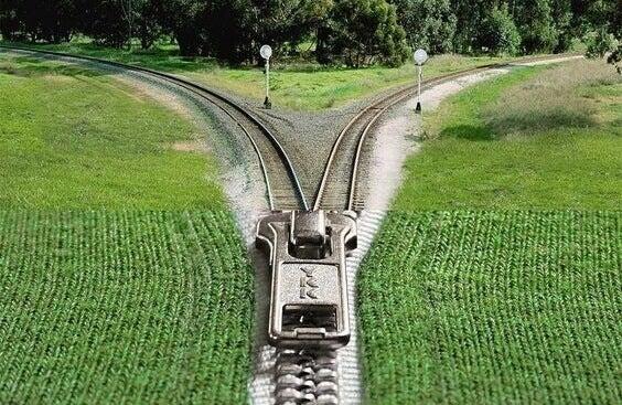 et glidelås-tog: ta en stor beslutning