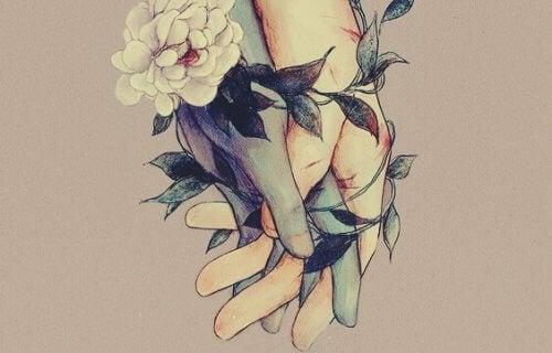 Hender og blomster