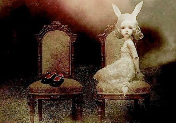 Jente med kaninører