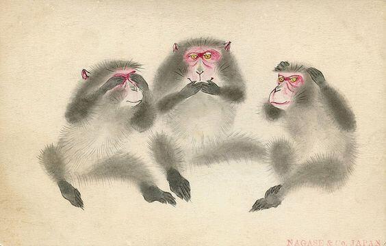Leksjonen til de tre vise aper i Toshugu-helligdommen