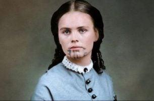 Olive Oatman, kvinnen med den blå tatoveringen som ble tatt til fange to ganger