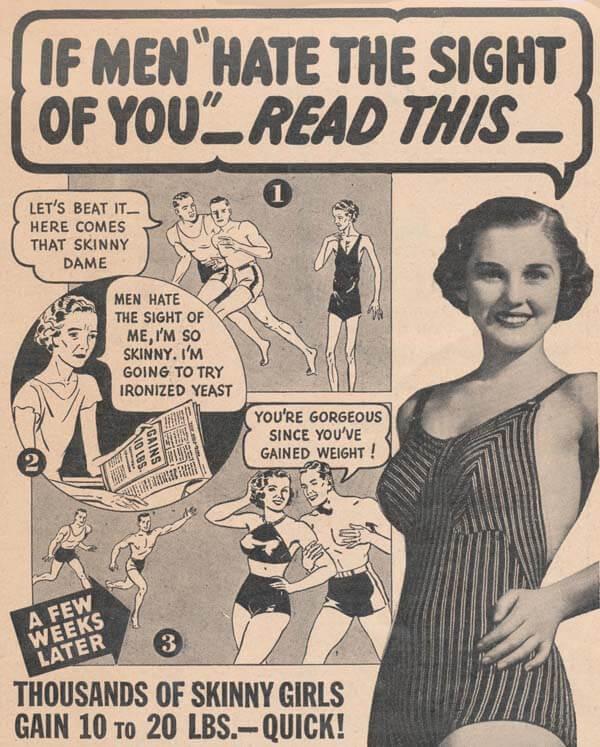 gammel avisannonse om kvinner