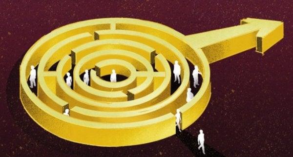 sexisme symbolisert med en labyrint