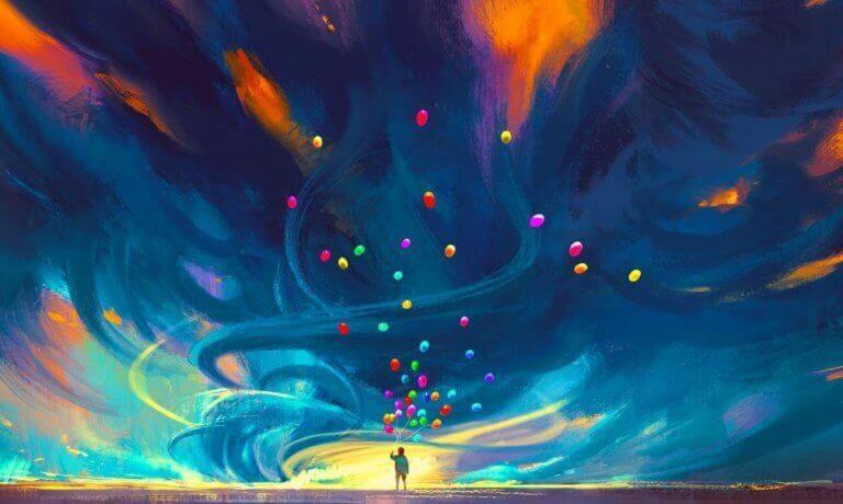 Barn med ballonger, Vis meg hvor vakkert livet egentlig er