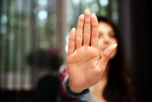 Hånd sier stopp