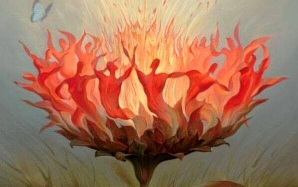 Flammer i blomst