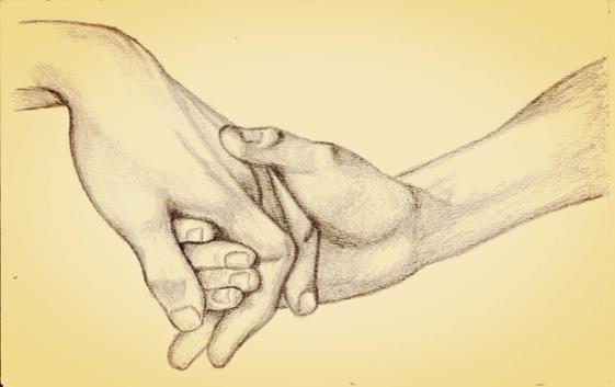 Hender holder hverandre