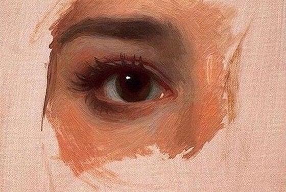 Maleri av øye