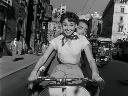 Audrey Heburn på sykkel