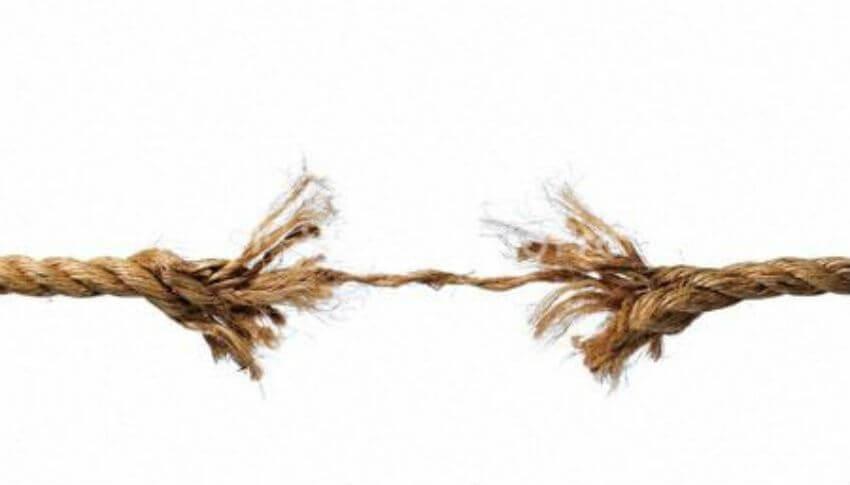 Et forhold kan slites og tæres