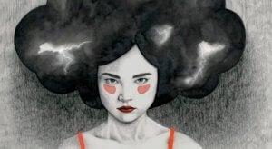 Jente som gjemmer følelsene sine
