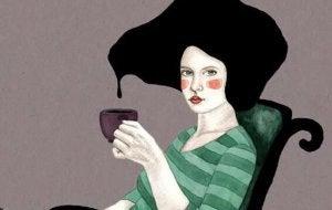 Jente som drikker
