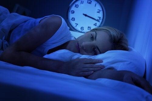 Søvnløs kvinne