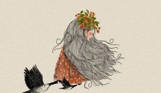 en kvinne og fugler @ottokim