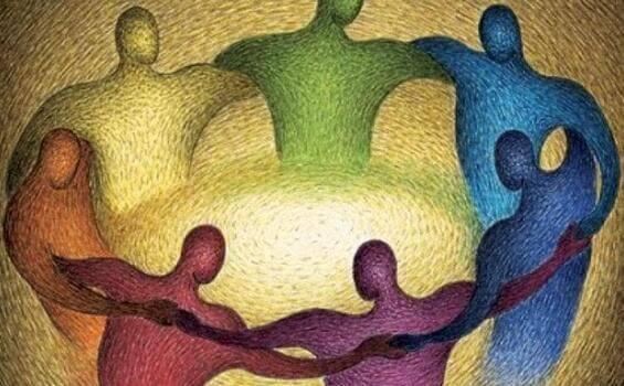 Mennesker i en sirkel