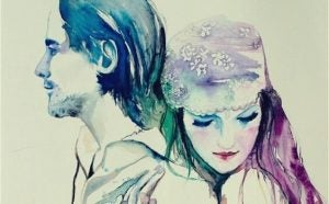 Omfavnende par