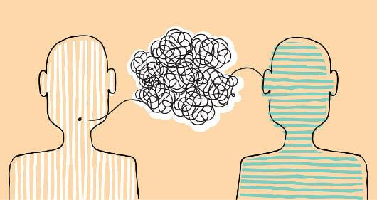 To mennesker misforstår hverandre