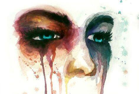 Akvarell gråt.
