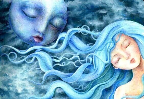 Månen og kvinners syklus.