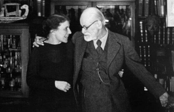 Anna Freud og Sigmund Freud