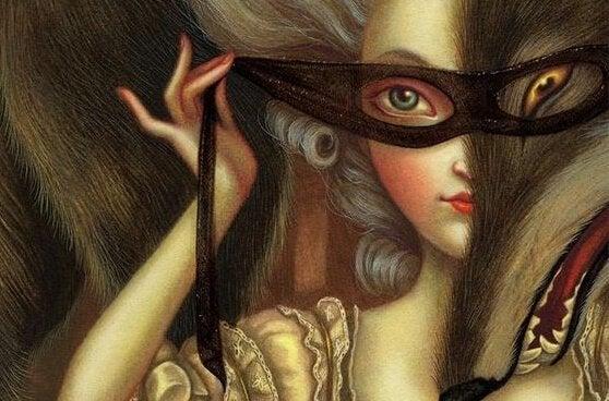 Kvinne med maske