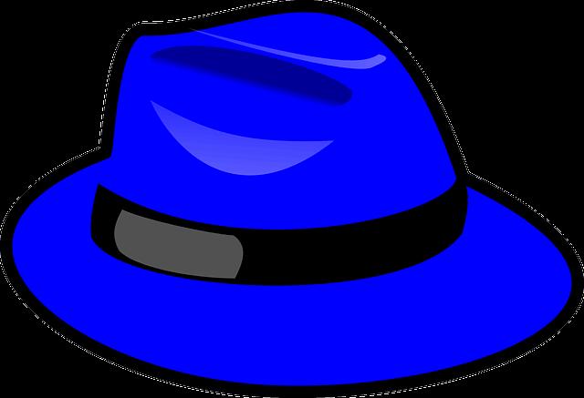 blå hatt som representerer teknikken til seks tankegenser