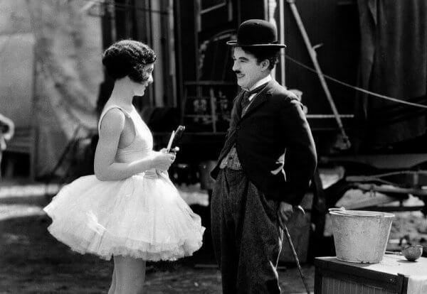 Charlie Chaplin på settet