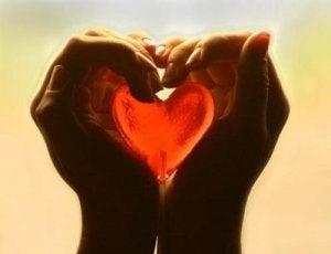 Noen som holder et hjerte