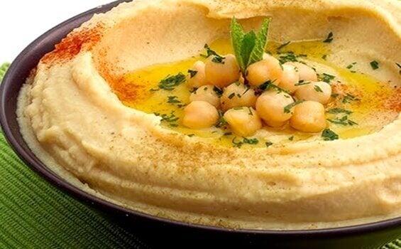 Hummus med kikerter.