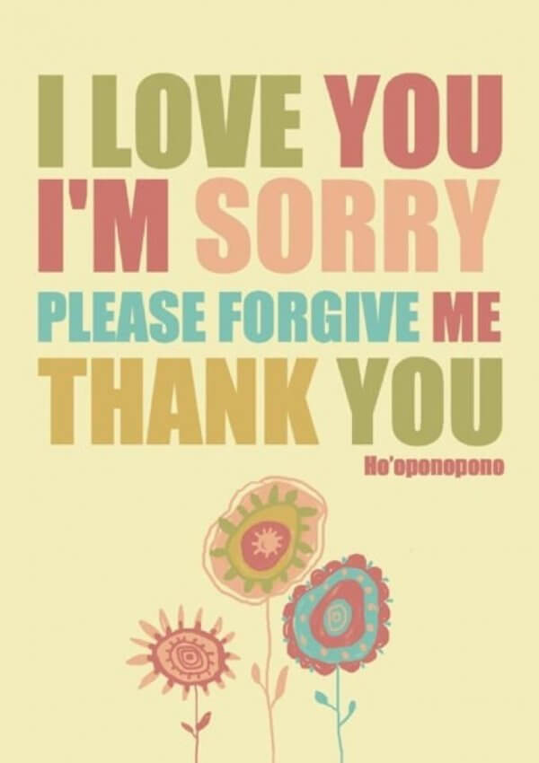 Ho-oponopono, jeg elsker deg, jeg beklager