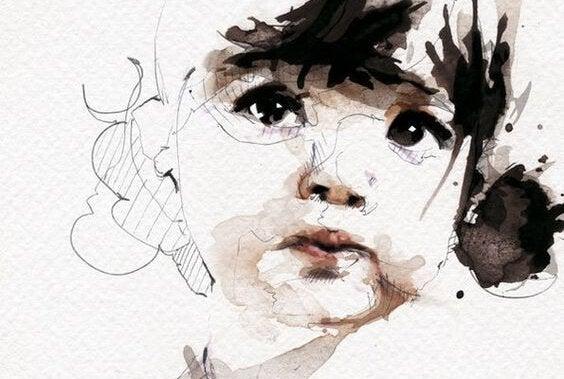 En liten jente.