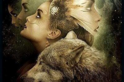 Kvinne og ulv