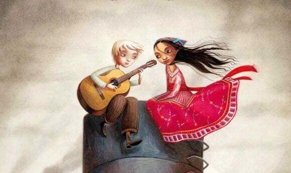 Par med gitar