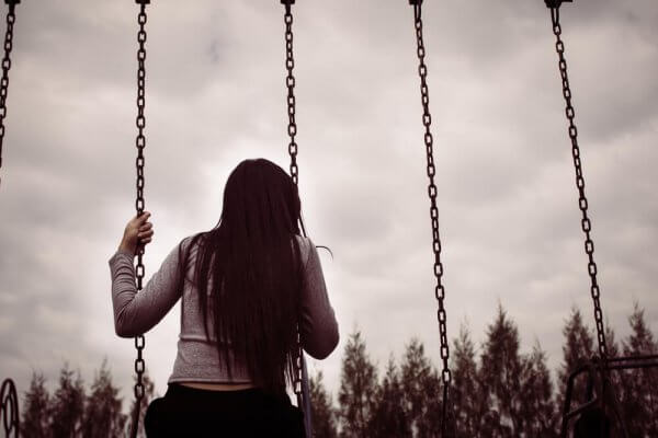 Trist, svart-hvitt