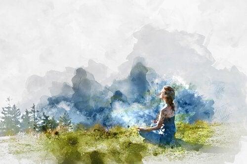Jente i naturen