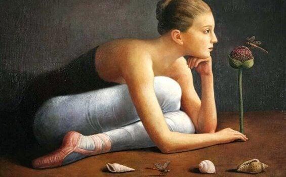Ballerina på gulvet