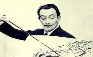 Et bilde av Dali når han maler