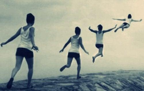 Person flyr