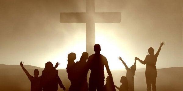 Mennesker og kors