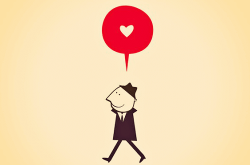 mann tenker på kjærlighet