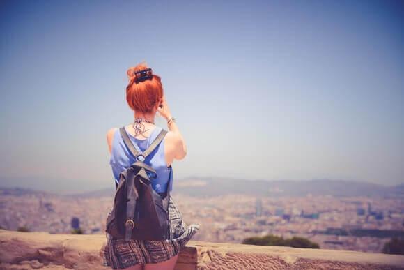 Kvinne på ferie