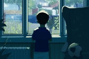 En gutt ved et vindu
