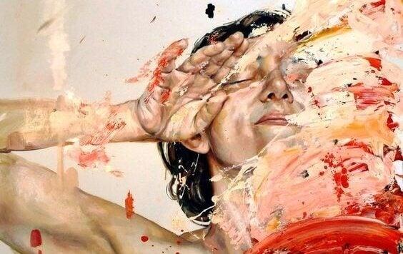 Person og maling